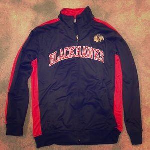 Chicago Blackhawks Zip Up Track Jacket Large